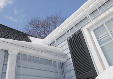 Gutter Guard Icicle Formation
